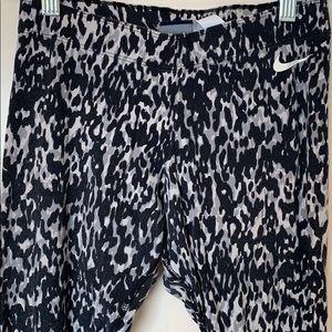 Nike Cotton Legging Pattern Black Gray S Soft